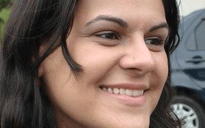 Melina Cardoso estuda para implantar audiodescrição em matéria da TV Folha (Foto: Arquivo pessoal)